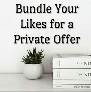 Other - Offer sent on bundles of 2 or more items.